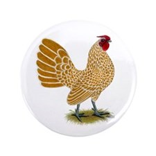 "Sebright Buff-laced Rooster 3.5"" Button"