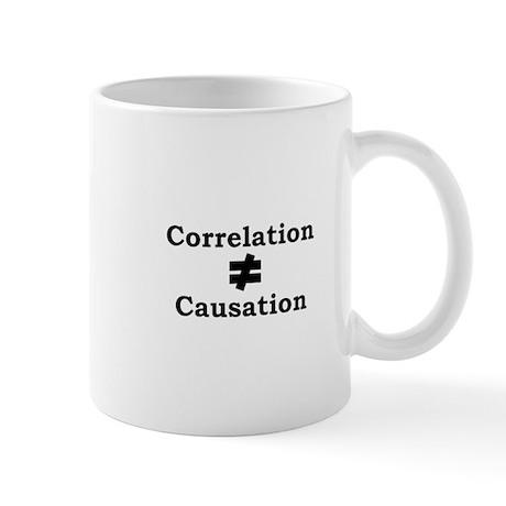Correlation doesn't equal causation Mug