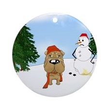 Shar-Pei Holiday Ornament (Round)