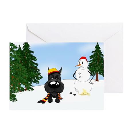 Schnauzer Holiday Greeting Card