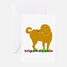 Golden Tripawds Rule Greeting Cards (Pk of 10)