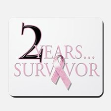 2 Year Breast Cancer Survivor Mousepad