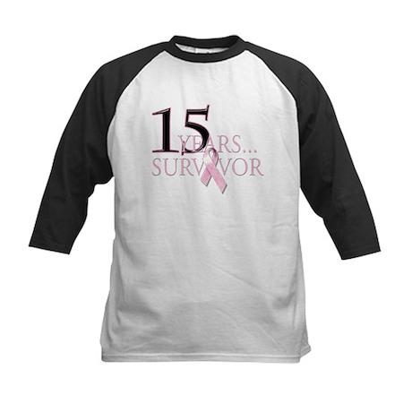 15 Year Breast Cancer Survivor Kids Baseball Jerse