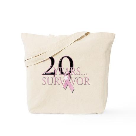 20 Year Breast Cancer Survivor Tote Bag