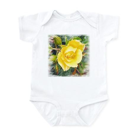 Lavish Yellow Rose Infant Creeper