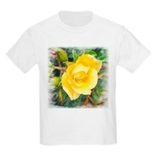Lavish Yellow Rose Kids T-Shirt