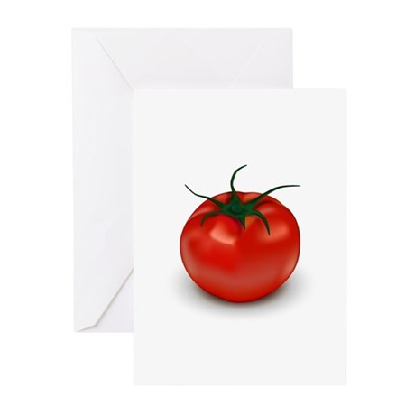 Tomato Red Greeting Cards