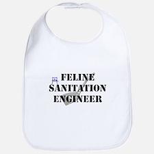 Feline Sanitation Engineer Bib
