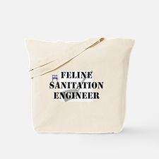 Feline Sanitation Engineer Tote Bag
