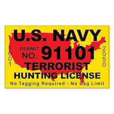 U.S. Navy Terrorist Hunting License Decal