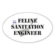 Feline Sanitation Engineer Decal