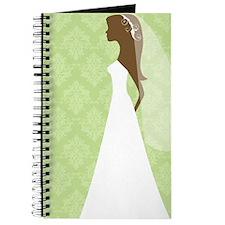 Green Damask Wedding Journal
