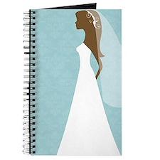 Teal Damask Wedding Journal