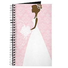 Pink Damask Wedding Journal