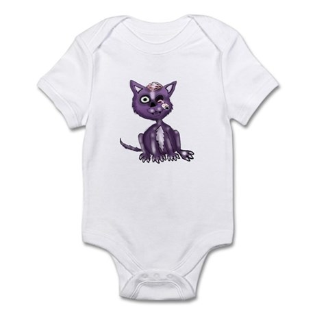 Purple Zombie Cat Infant Bodysuit