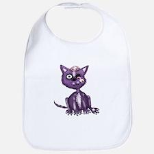 Purple Zombie Cat Bib