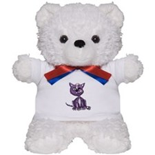 Purple Zombie Cat Teddy Bear