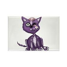 Purple Zombie Cat Rectangle Magnet (100 pack)