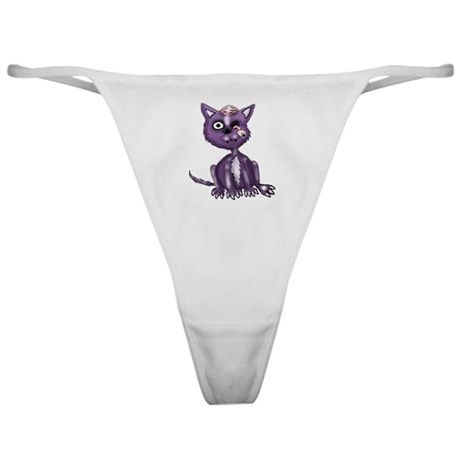 Purple Zombie Cat Classic Thong