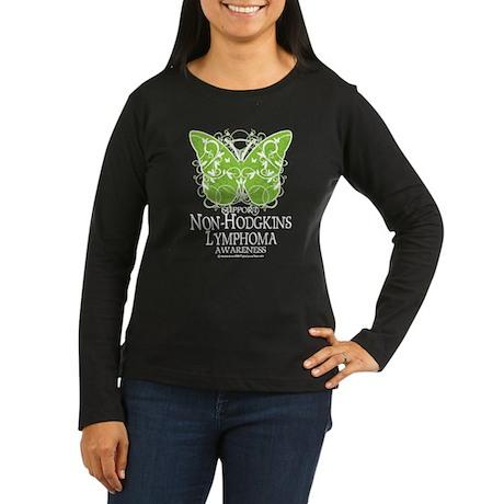 Non-Hodgkins Lymphoma Butterf Women's Long Sleeve