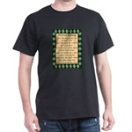 Kiss Me I'm Irish Black T-Shirt