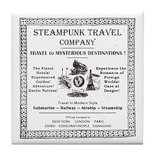 Steampunk Travel Tile Coaster