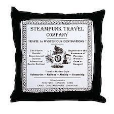 Steampunk Travel Throw Pillow