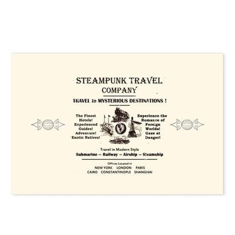 Steampunk Travel Postcards (Package of 8)