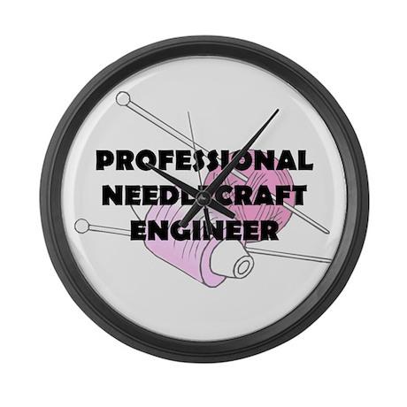 Professional Needlecraft Engi Large Wall Clock