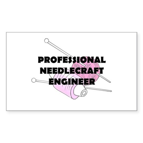 Professional Needlecraft Engi Sticker (Rectangle)