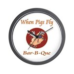 When Pigs Fly! Wall Clock