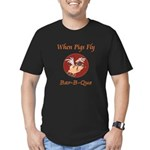 When Pigs Fly! Men's Fitted T-Shirt (dark)