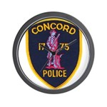 Concord Massachusetts Police Wall Clock
