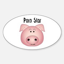 Cute Princess pig Sticker (Oval)