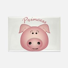 Cute Princess pig Rectangle Magnet