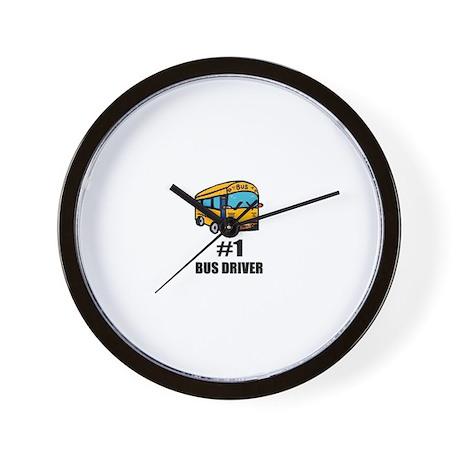 #1 BUS DRIVER Wall Clock