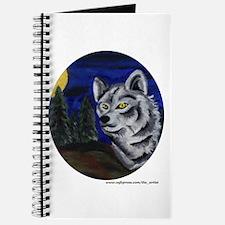 Funny Grey wolf Journal
