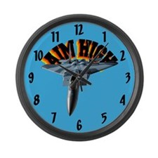 F15 Aim High Large Wall Clock