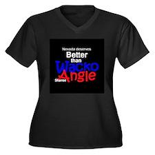 Sharron Angle Women's Plus Size V-Neck Dark T-Shir