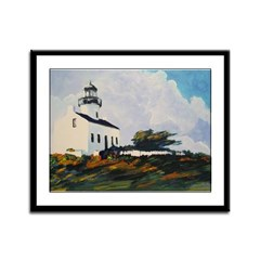 Lighthouse by Riccoboni Framed Panel Print