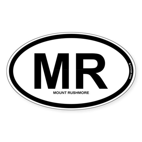 MR - Mount Rushmore Sticker (Oval)