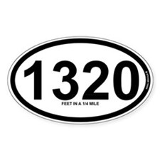 1320 - Feet in a quarter mile Decal