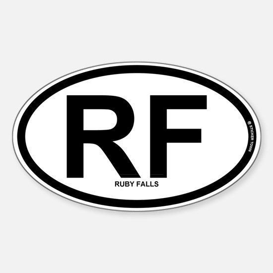 RF - Ruby Falls Sticker (Oval)