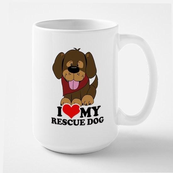 I love my Rescue Dog Large Mug