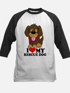 I love my Rescue Dog Kids Baseball Jersey