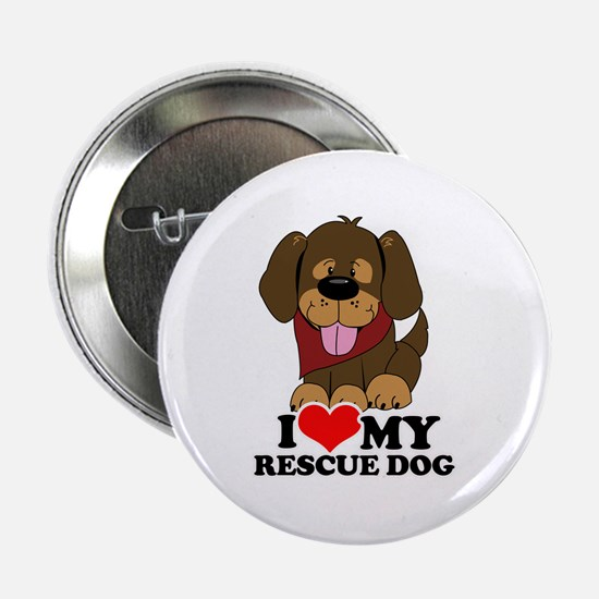 "I love my Rescue Dog 2.25"" Button"