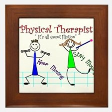 Physical Therapists II Framed Tile