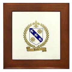 RIOUX Family Crest Framed Tile