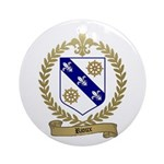 RIOUX Family Crest Ornament (Round)