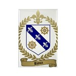 RIOUX Family Crest Rectangle Magnet